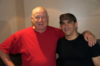 Neil with his opening act, singer guitarist Mark Howard