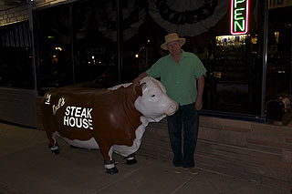 Neil with bull